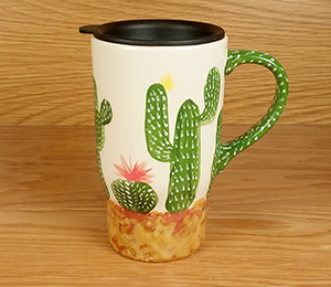 Salt Lake City Cactus Travel Mug