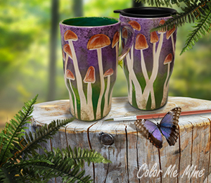 Salt Lake City Mushroom Mugs