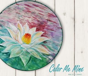 Salt Lake City Lotus Flower Plate