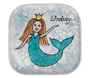 Salt Lake City Mermaid Plate