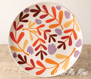 Salt Lake City Fall Floral Charger