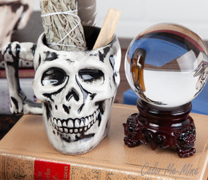 Salt Lake City Antiqued Skull Mug